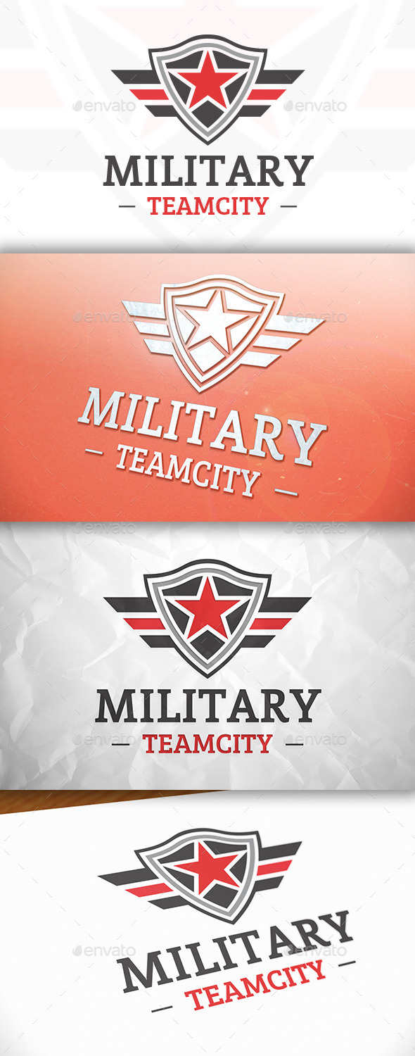 GraphicRiver Military Shield Logo 8869474