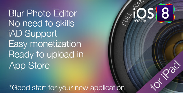 Photo Blur - Blur Wallpaper editor for iPad - CodeCanyon Item for Sale