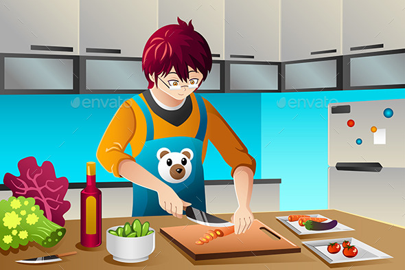 GraphicRiver Man Cooking 8869743
