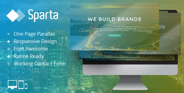 ThemeForest Sparta Responsive One Page HTML Template 8747534