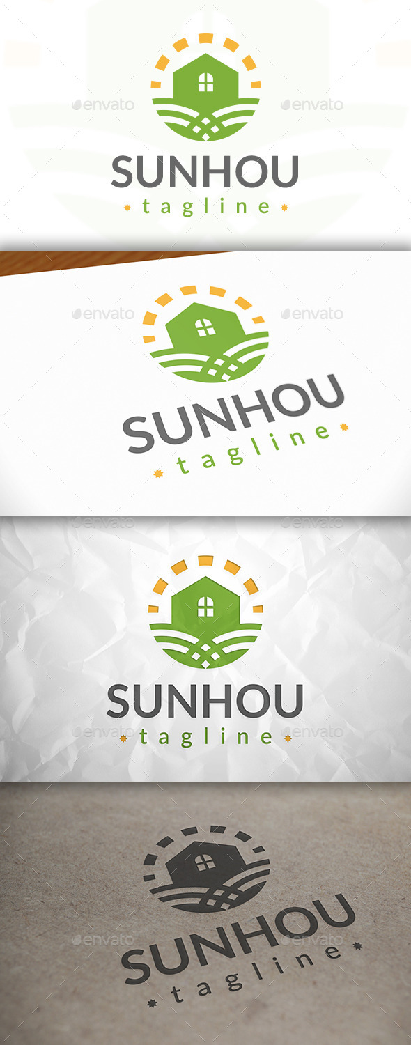 GraphicRiver Sun House Logo 8870378