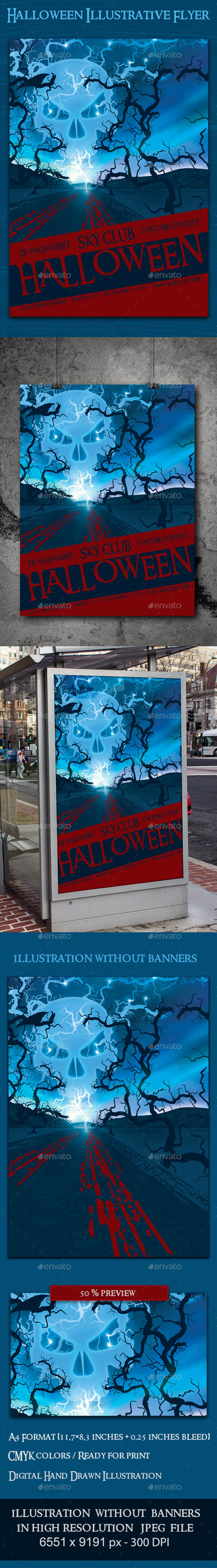 Halloween Illustrative Flyer Template