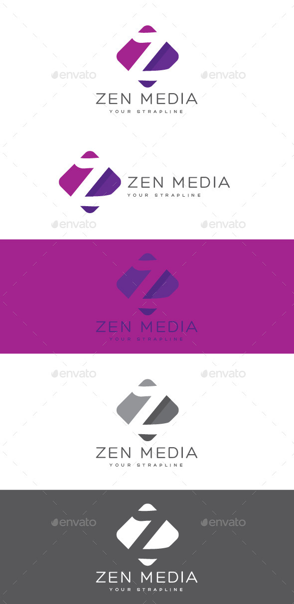 GraphicRiver Zen Media Letter Z Logo 8870465
