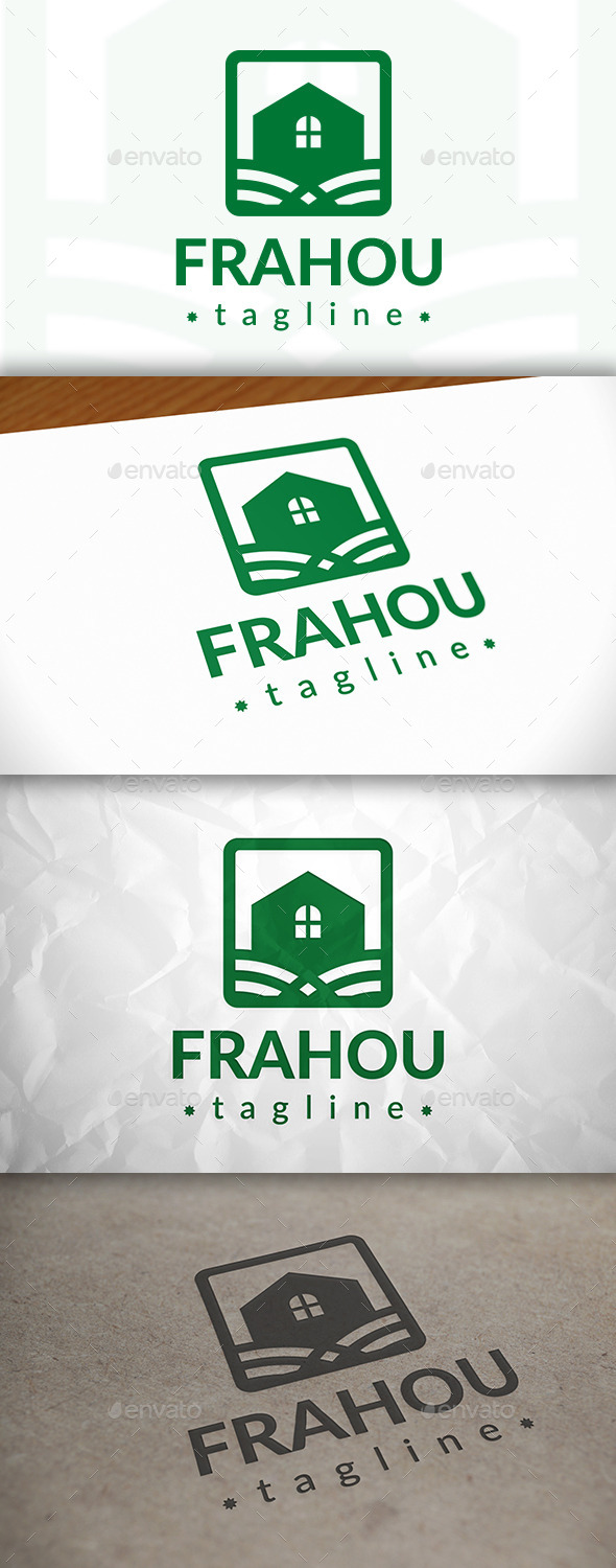 GraphicRiver House Frame Logo 8870618