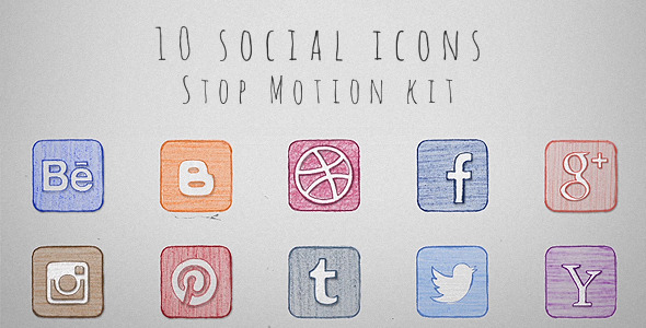 Social Icons Stop Motion Kit
