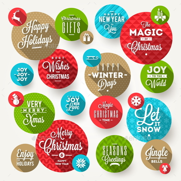 GraphicRiver Set of Frames with Christmas Greeting 8870695