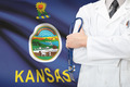 Concept of US national healthcare system - state of Kansas - PhotoDune Item for Sale