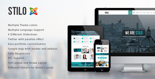 ThemeForest Stilo Responsive One Page Multipurpose Joomla Th 8870712
