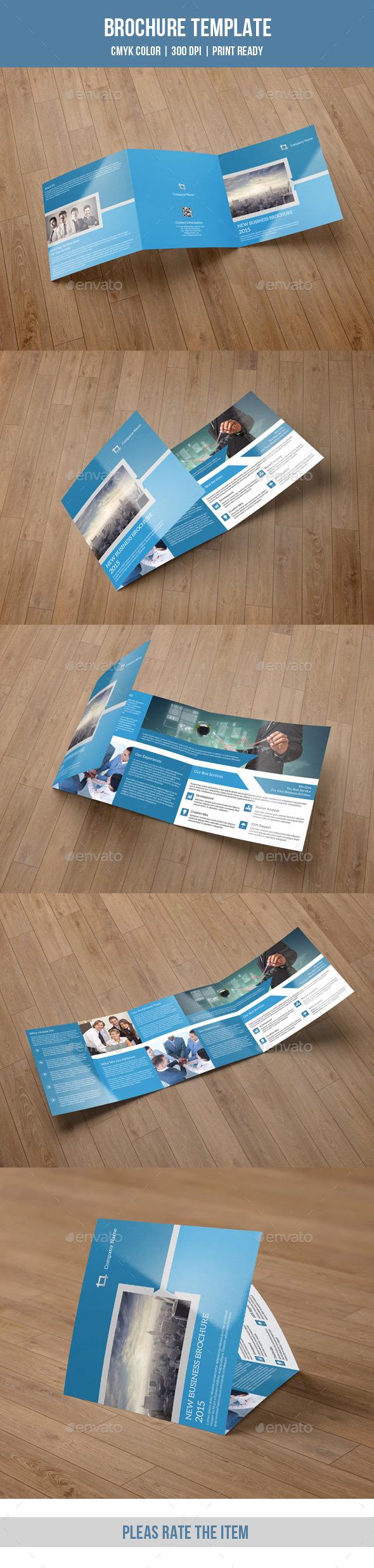 GraphicRiver Square Trifold Brochure for Business-V36 8870717