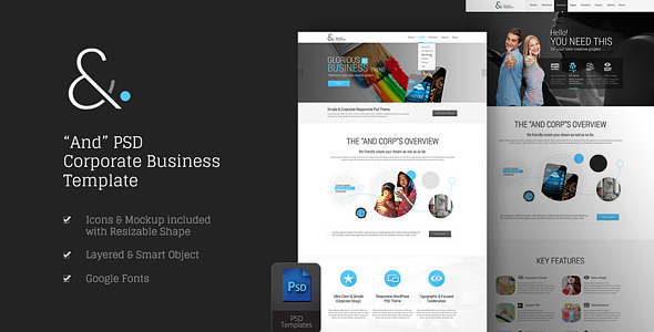 ThemeForest And Corporate PSD 8870732