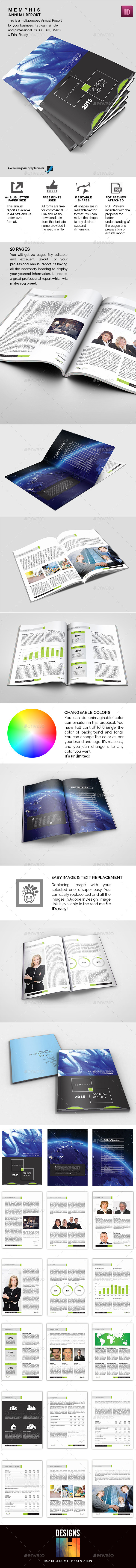 GraphicRiver Memphis Annual Report 8870817