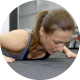 Woman at the Gym Doing Push-Ups - VideoHive Item for Sale