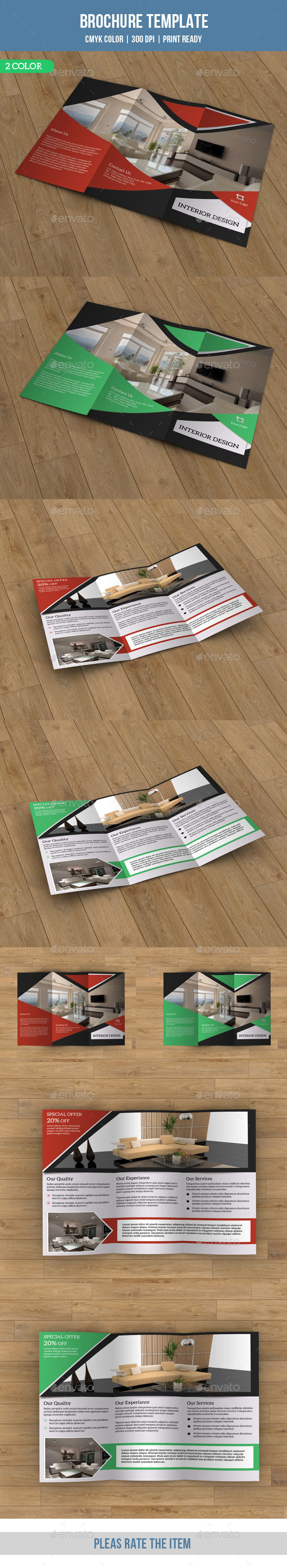 GraphicRiver Trifold Brochure for Interior Design-V66 8871012