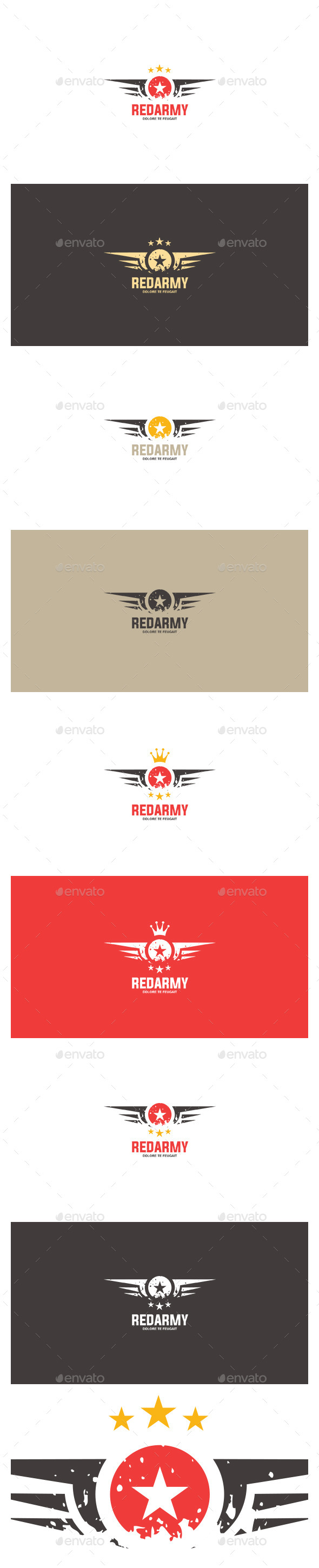 GraphicRiver Red Army Logo Template 8871039