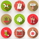 Set of Christmas Flat Icons with Long Shadow - GraphicRiver Item for Sale