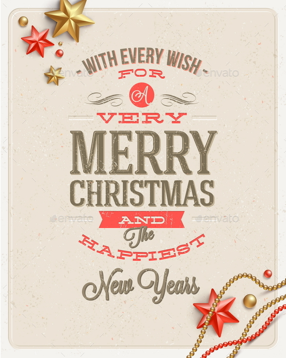 GraphicRiver Christmas Type Design and Holidays Decoration 8871110