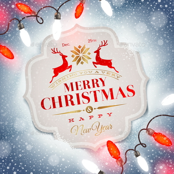 GraphicRiver Holiday Type Design and Christmas Light 8871329