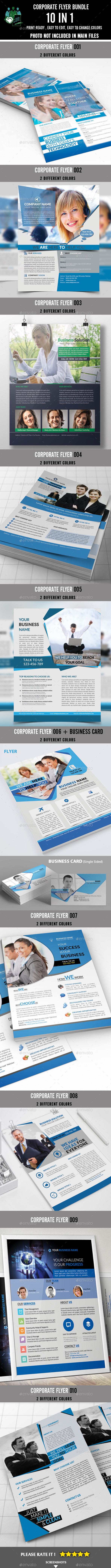 GraphicRiver Corporate Flyer Bundle 10 in 1 8871331
