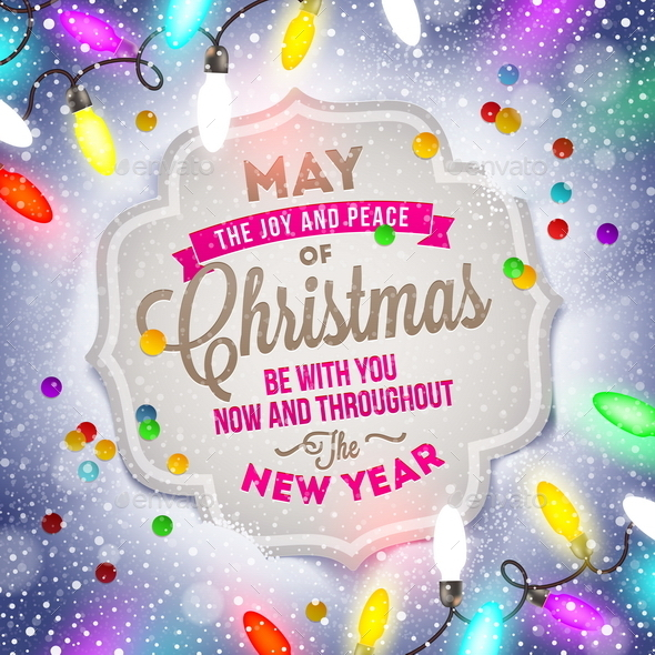 GraphicRiver Holiday Type Design and Christmas Light 8871370