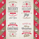 Set of Christmas Type Designs and Flat Icons - GraphicRiver Item for Sale