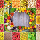 Huge collage of various healthy Fruit and Vegetables - PhotoDune Item for Sale