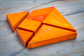 seven tangram  puzzle pieces - PhotoDune Item for Sale