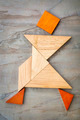 tangram walking figure - PhotoDune Item for Sale
