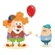 Circus Clown with Balloon and Boy - GraphicRiver Item for Sale