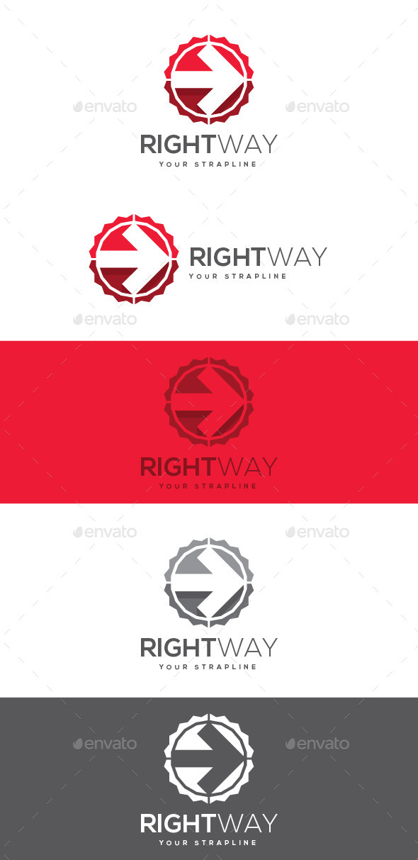 GraphicRiver Right Way Logo 8872092
