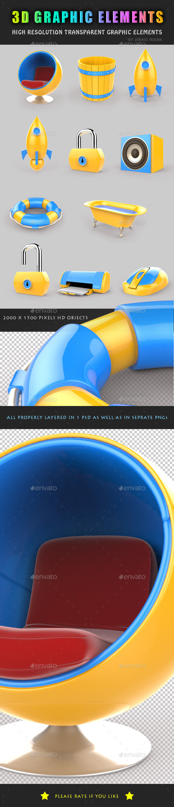 GraphicRiver 3D Graphic Elements 8872099
