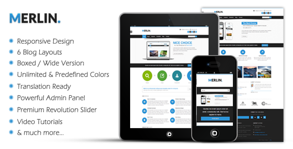 Merlin Clean & Modern Multipurpose Theme