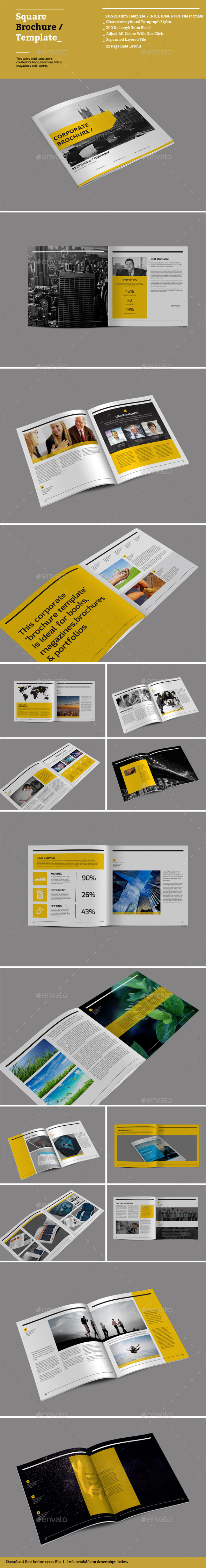 GraphicRiver Square Brochure Templates 8866412