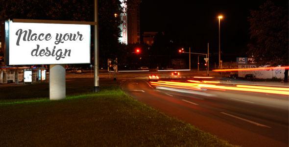 VideoHive Billboard Night Mock Up 8851853