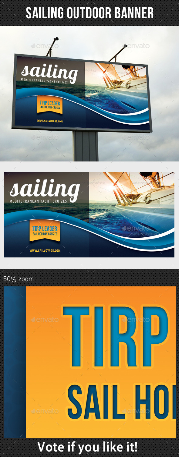 GraphicRiver Sailing Yacht Trip Outdoor Banner 8872594