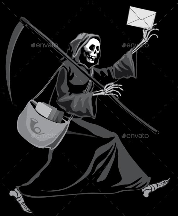 GraphicRiver Grim Reaper Postman 8872686