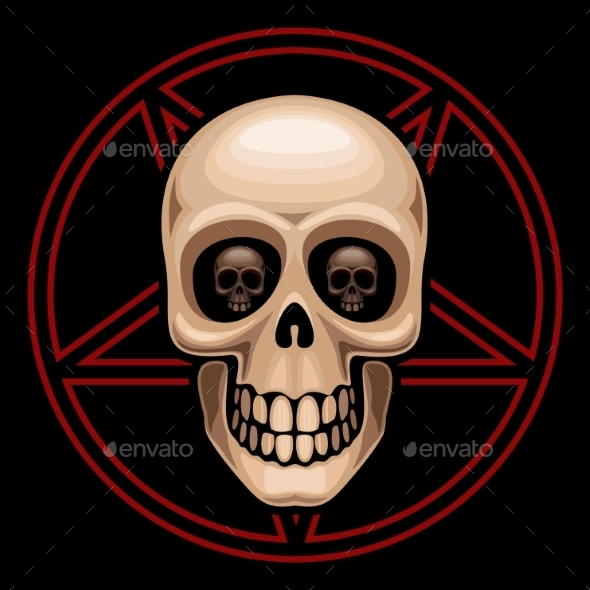 GraphicRiver Skull and Pentagram 8872729