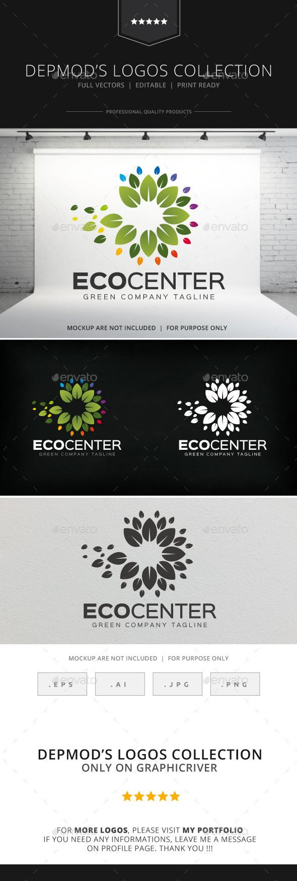 GraphicRiver Eco Center Logo 8872740