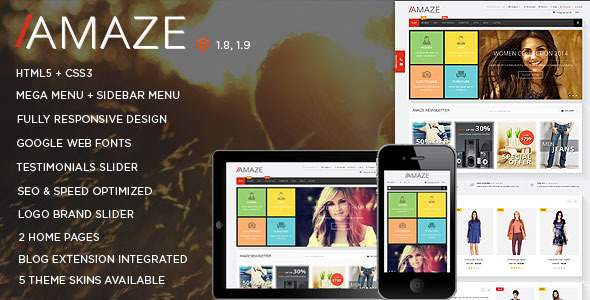 ThemeForest Amaze Responsive Multipurpose Magento theme 8872836