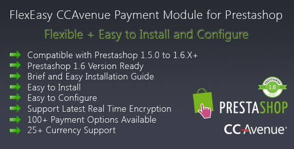 CodeCanyon FlexEasy CCAvenue Payment Module for Prestashop 8872882