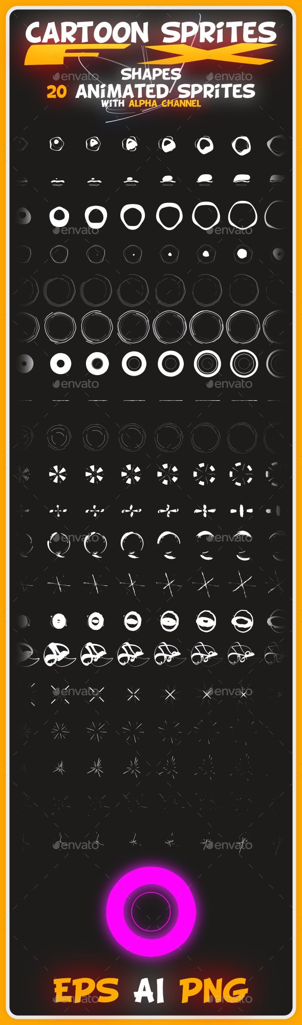 GraphicRiver Cartoon Sprites FX Shapes 8872899