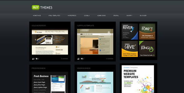 ThemeForest Buy Themes Blogger Gallery Template 37209