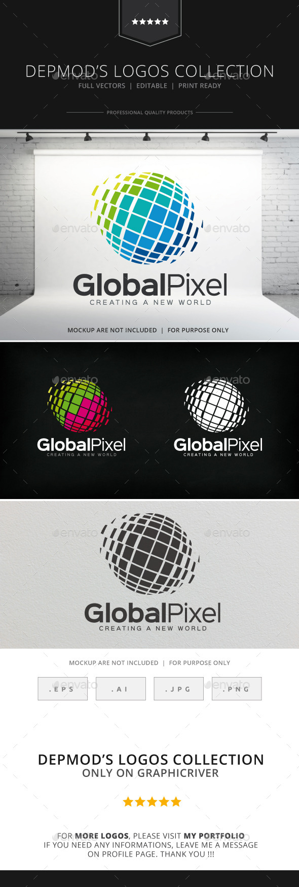 GraphicRiver Global Pixel Logo V.02 8872933