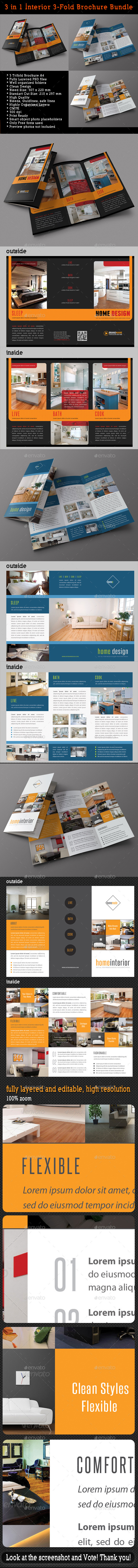 GraphicRiver 3 in 1 Interior 3-Fold Brochure Bundle 04 8872970