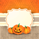 Halloween Background with Label and Pumpkins - GraphicRiver Item for Sale