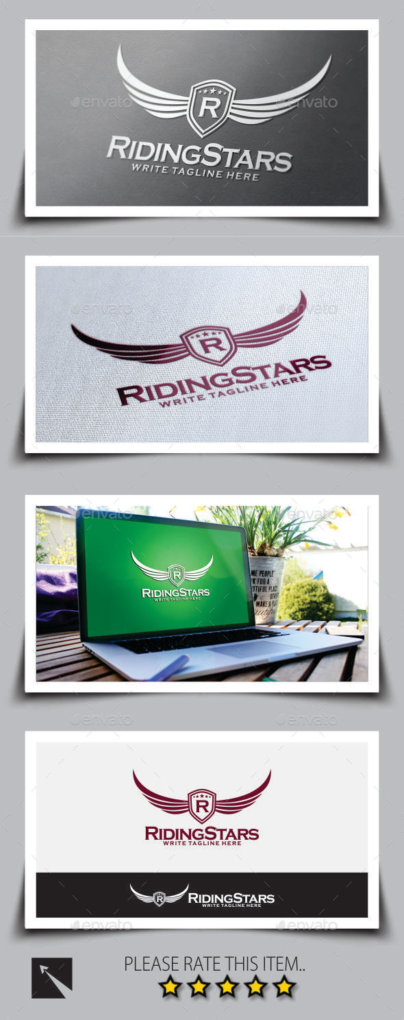 Riding Stars Logo Template