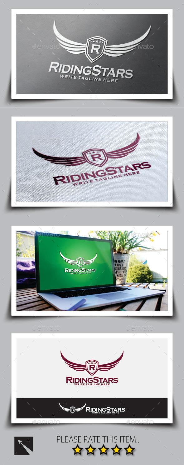 GraphicRiver Riding Stars Logo Template 8873072