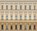 Neoclassic architecture wall with windows vintage background - PhotoDune Item for Sale