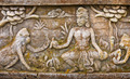 Old bas-relief on the wall of the temple. Indonesia, Bali - PhotoDune Item for Sale