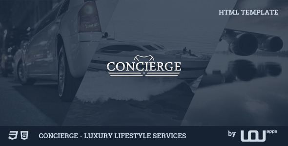 Concierge - Luxury Lifestyle Services HTML