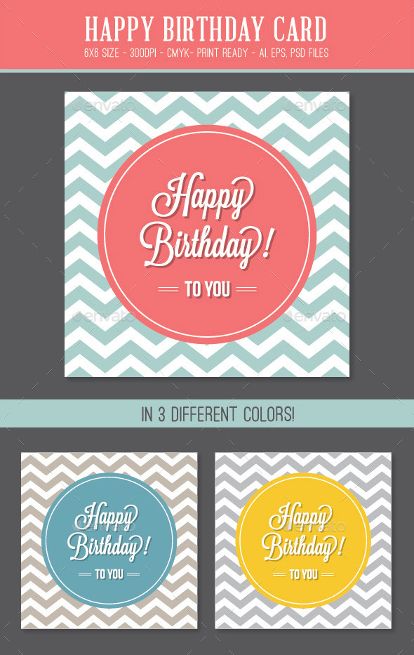 GraphicRiver Happy Birthday Card 8873115
